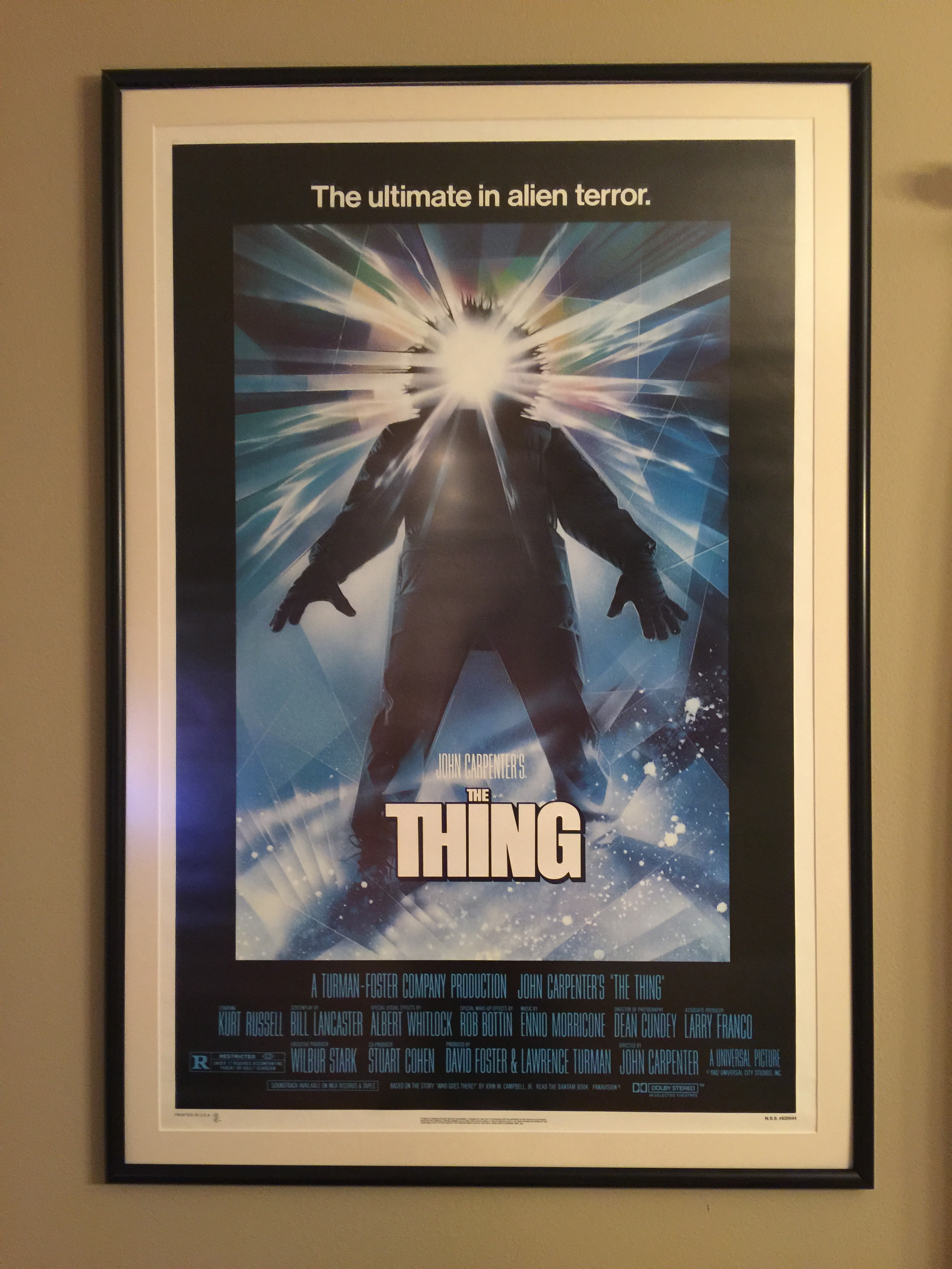 movie poster frame the thing